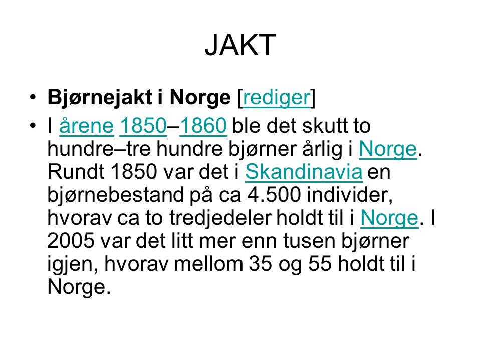 JAKT Bjørnejakt i Norge [rediger]